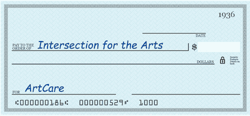ArtCare donations by check